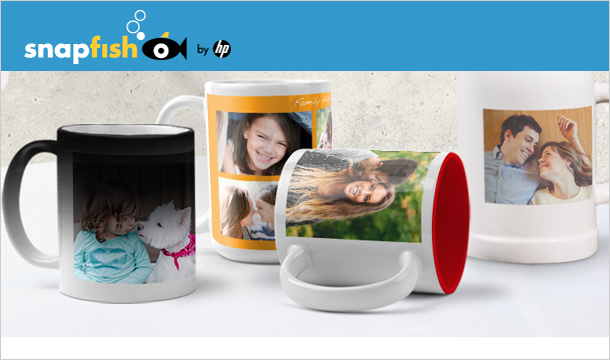 Snapfish: Personalised Photo Mug, for only €3 from Snapfish. (Delivery not included)