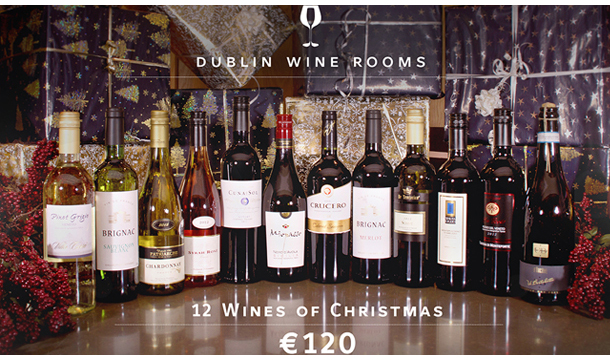 €120 for 12 Bottles of Specially Selected Wines for Christmas for Collection OR €135 including Delivery from Dublin Wine Rooms!