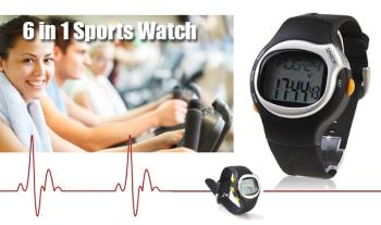 €14.99 for a 6-in-1 Sports Watch with Pulse Heart Rate Monitor, Delivered.