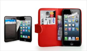 €9 for a leather-look iPhone 5/5s wallet in Black or Red, Delivered.