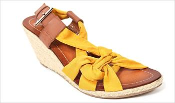 €24 for a pair of Hengst Yellow Wedge Sandals, Delivered.