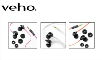€10 for a pair of Veho, Noise Cancelling Earphones, in a choice of colours with Free Delivery.