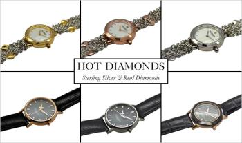 €30 for a choice of Hot Diamonds Watches with Genuine Diamond, Delivered.