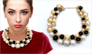 €12 for a Gold & Black Pearl Jewellery Collar Neck Piece. Delivered.
