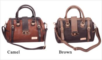 XTI Satchel Bag in Brown or Camel, with Free Delivery.