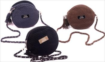 XTI Round Shoulder Bag in Black, Brown or Navy for €25 with Free Delivery.