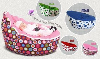 Baby Bean Bag in a Choice of Colours for only €55.99 with Free Delivery.