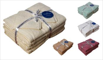 6 Piece Egyptian Towels Set in a choice of colours for only €25 with Free Delivery.