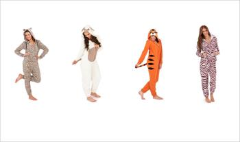 Adult Animal Print Onesies, in a choice of animal and sizes for only  €28 with Free Delivery