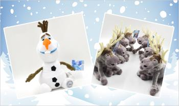 €15 for a plush Olaf or Sven cuddly toy from the hit Disney film Frozen with Free Delivery.