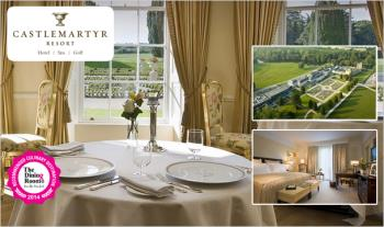 Luxurious 1 Night (€289) or 2 Night (€450) Culinary Break for 2 in a Junior Suite including Breakfast, an Award Winning 5 Course Dinner, Prosecco on arrival & €20 Spa Credit at the Luxurious 5* Castlemartyr Resort, Co. Cork