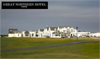 1 Night (€99) or 2 Nights (€159) stay for 2 People including Full Irish Breakfast & Dinner with a Glass of Wine each at the 4-Star Great Northern Hotel in Bundoran, Co. Donegal