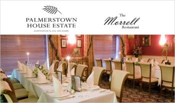 Enjoy a Delicious 2 Course Evening Meal with Tea/Coffee for 2 for just €40 at Palmerstown House Estate, Johnstown, Co. Kildare