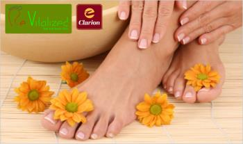 €39 instead of €126 for a Foot Pampering Package at Revitalized Feet & Body Clinic at Hotel Clarion, Liffey Valley