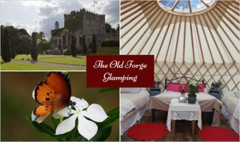 1 Night (€95) or 2 Nights (€179) Glamping for 4 People including a Bottle of Wine on arrival at The Old Forge Glamping & Equestrian Centre, Coolkenno, Co. Wicklow