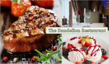 Enjoy a 2 Course A la Carte Dinner for 2 (including 8oz steak) for €29 at The Dandelion Restaurant in Swords.