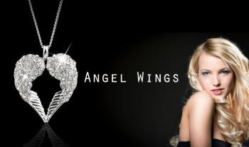 €14 for gorgeous Angel Wings Necklace featuring Swarovski Elements Crystals with Free Delivery.