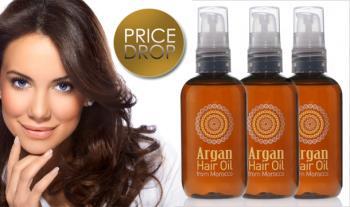 Moroccan Argan Hair Treatment Oil (100ml), 1 bottle (€9.99), 2 bottles (€17.99), 3 bottles (€24.99),  delivered to your door!