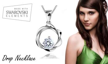 €11 for a gorgeous Drop Necklace made with Swarovski Elements with Free Delivery.