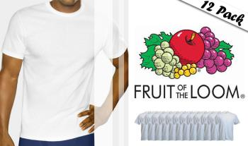 Fruit of the Loom T-shirts, round neck, 12 pack, in white for only €39.95 with Free Delivery.