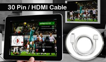 30 pin iPhone / iPad 1.8m HDMI cable for only €16 with Free Delivery.
