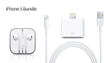 €14.99 for iPhone 5 Accessories Pack, delivered. Includes Earpods, 10ft Lightning Cable and 8 pin to 30 pin Lightning Adapter.