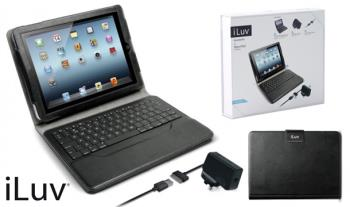 Tech Bundle - €29.95 for iLuv new iPad Premium Essential Kit which includes iPad portfolio case with built in detachable wireless Bluetooth keyboard PLUS free iPad Griffin Shell Case, with Free Delivery.