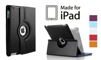 360 Rotating iPad Case, Suitable for iPad 2/3 with Screen Protector & Stylus. Available in a range of colours for only €15 with Free Delivery.
