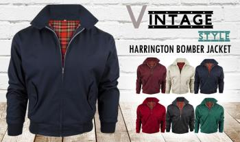Men's Classic Vintage 1970's Bomber Harrington Jacket for only €30 with Free Delivery.