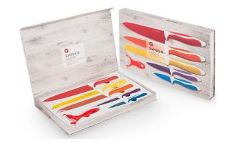 €19.99 for Professional Swiss Line 5 Stainless Steel Knife Set Plus Peeler, Gift Boxed & Free Delivery!