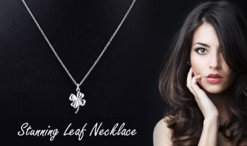 Stunning Leaf Necklace with Presentation Box for only €9.99 with Free Delivery.