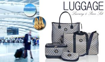 Luxury 4 Piece Weekender Luggage Set for only €29.95 with Free Delivery.