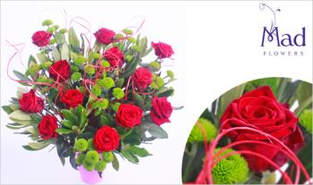 Summer Rose Red Bouquet for just €39, Delivered Nationwide from Mad Flowers.