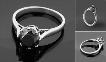 €127.99 for a stunning 1 Carat Black Diamond Ring, Delivered! (Worth €599!)