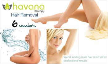 €99 instead of €496 for 6 Sessions of Laser Hair Removal on any 2 small areas or 1 large area at Havana Therapy, Dundrum or IFSC Dublin 1