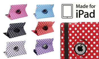 Polka Dot iPad Case for iPad 2 or 3, in a range of colours and including a screen protector and stylus, for only €13 with Free Delivery.
