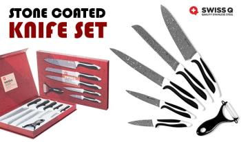 €19.99 for a Swiss Q® Stone Coated Knife Set, Delivered.