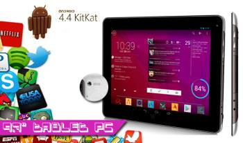 "€199 for a DJC Touchtab4 9.7"" QUAD CORE, 4.4 KitKat Tablet PC, with Free Delivery."