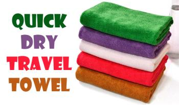 €17.99 for 5 Quick Dry Travel Towels, Delivered.