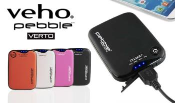 The Veho Pebble Verto Portable Charger 3700mAh with Free Delivery.