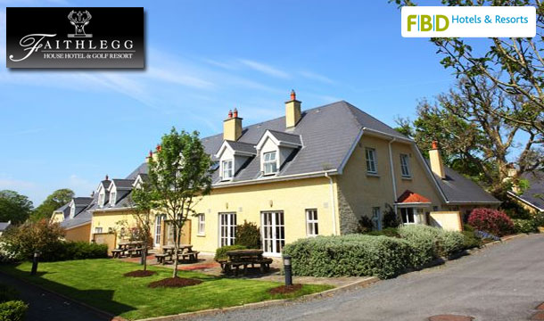 3 nights (€199) or 5 nights (€299) Self-Catering Accommodation for up to 4 people including €20 Golf Credit & €100 Spa Credit in the Mews at Faithlegg House Hotel & Golf Resort, Waterford