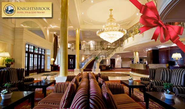 €129 for 1 Night or €189 for 2 Nights for Two in a Deluxe Room including Breakfast, Round of Golf or Spa each, 3 Course Meal, 20% off all Spa Treatments PLUS Late Check Out at The Luxury Knightsbrook Hotel, Meath