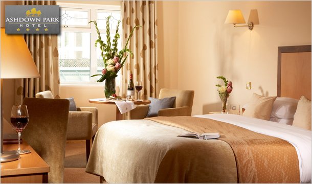 €129 for 1 Night or €179 for 2 Nights stay for 2 including Breakfast, a 2 Course Meal in The Rowan Tree Restaurant plus a Bottle of Wine at the 4-Star Ashdown Park Hotel, Gorey, Co. Wexford
