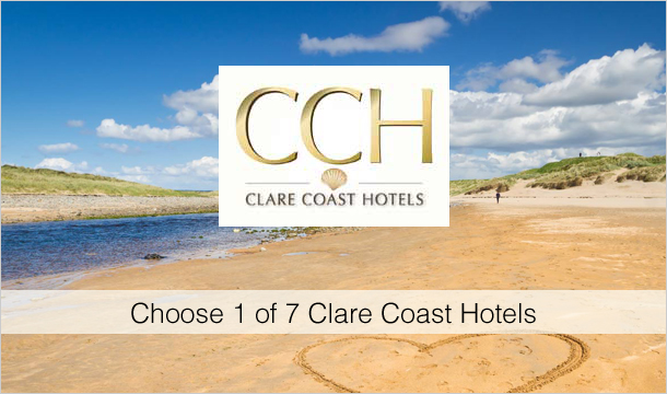 Clare Coast Hotels: 1 or 2 Nights Room-Only Stay for 2 with Wine & Late Checkout at 1 of 7 Clare Coast Hotels
