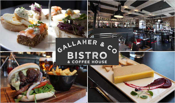 Gallaher & Co: €39 instead of €86 for a Delicious 3 Course Meal for 2 at Gallaher & Co, D'Olier Street, D2