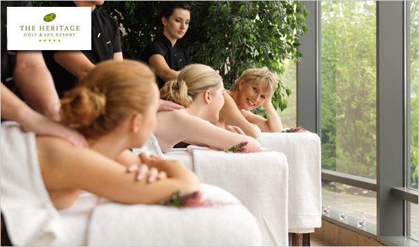€95 instead of €185 for a Half-Day Spa Experience at the 5-Star Heritage Golf and Spa Resort, Killenard, Co. Laois