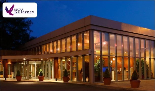 Family Special: 2 Nights B&B Stay for 2 Adults & 2 Children at the Beautiful Hotel Killarney, Kerry