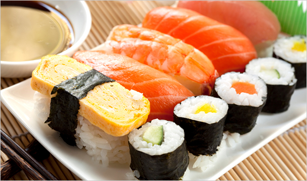 Ichiman Japanese Restauarant: 22 Piece Sushi Selection With 2 Glasses of Wine or Bottles of Beer from €14  at Ichiman Japanese Res