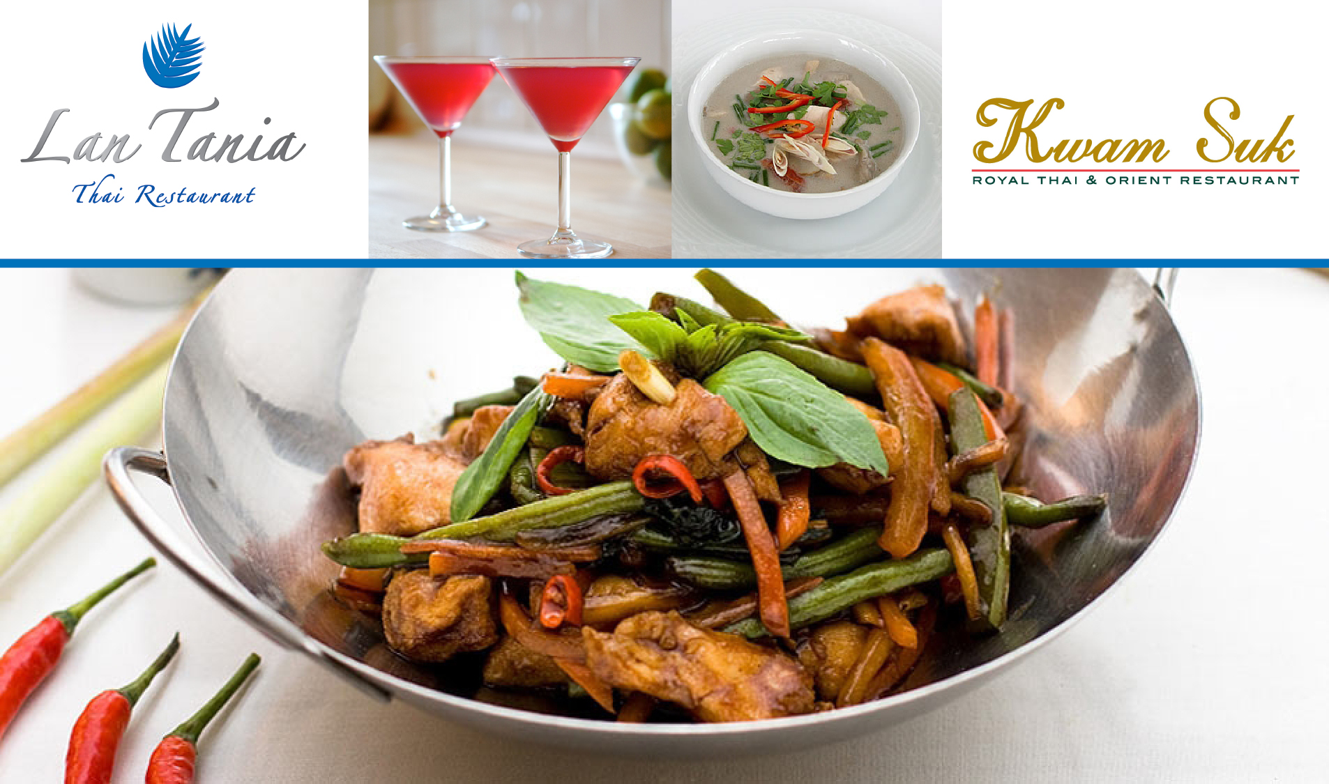 Back By Popular Demand -  €20 for a €40 voucher for delicious food & drink at Lan Tania Thai Restaurant, Maynooth!