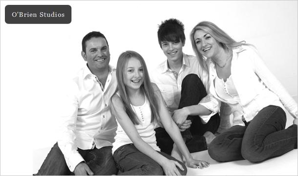 O Brien Studios: Family Portrait Photo Shoot inclding a Mounted Portrait at O'Brien Studios, Lavitts Quay, Cork